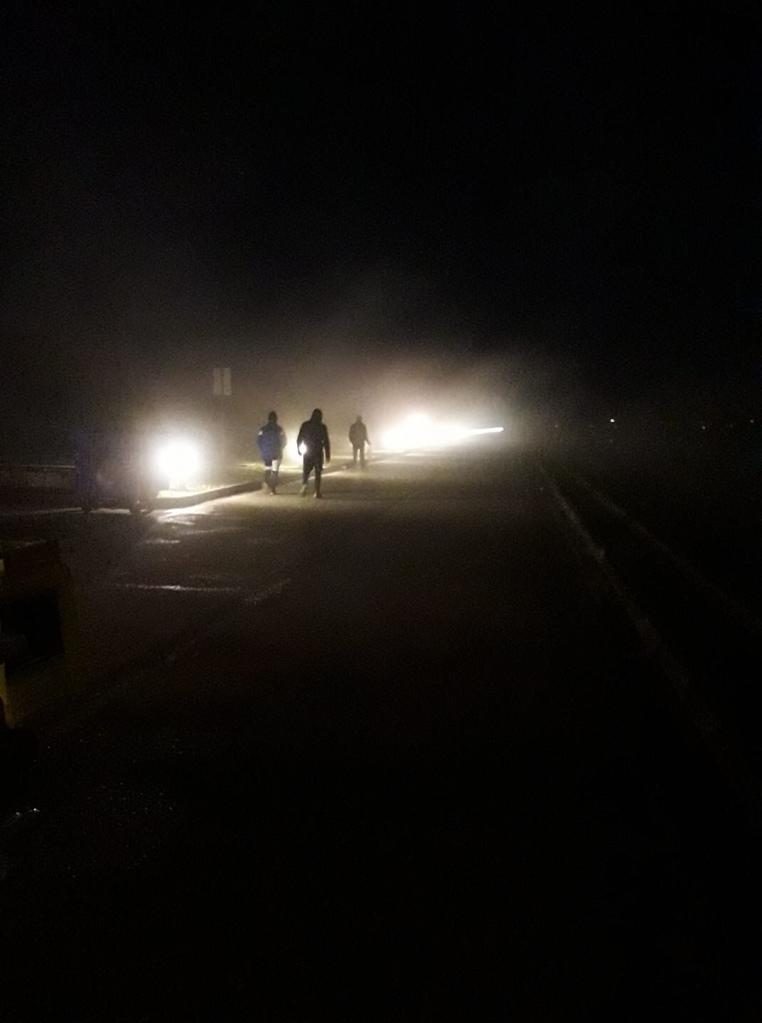Ομίχλη στο Κωπηλατοδρόμιο Σχινιά